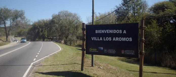 villa los aromos cartel - Los Aromos: caravana contra la quema de poda