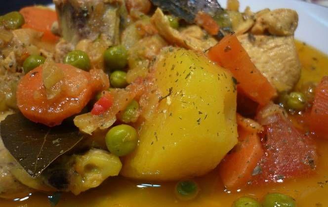 pollo a la portuguesa - La receta del finde: Pollo a la portuguesa con papas y arvejas