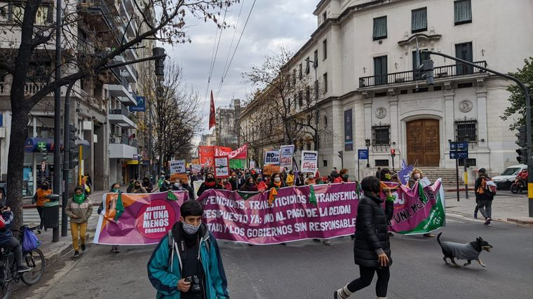 Marcha en Córdoba de Ni Una Menos en contra de la violencia