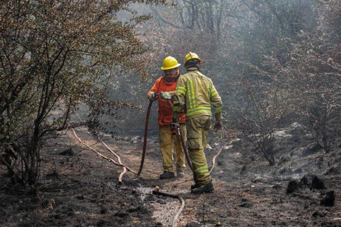incendios cba lluvia - Está contenido el incendio de La Paz y ya no hay riesgo para las familias de la zona
