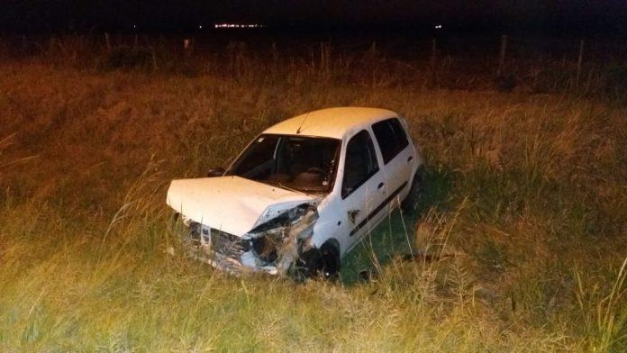 accidente - Perdió el control del automóvil