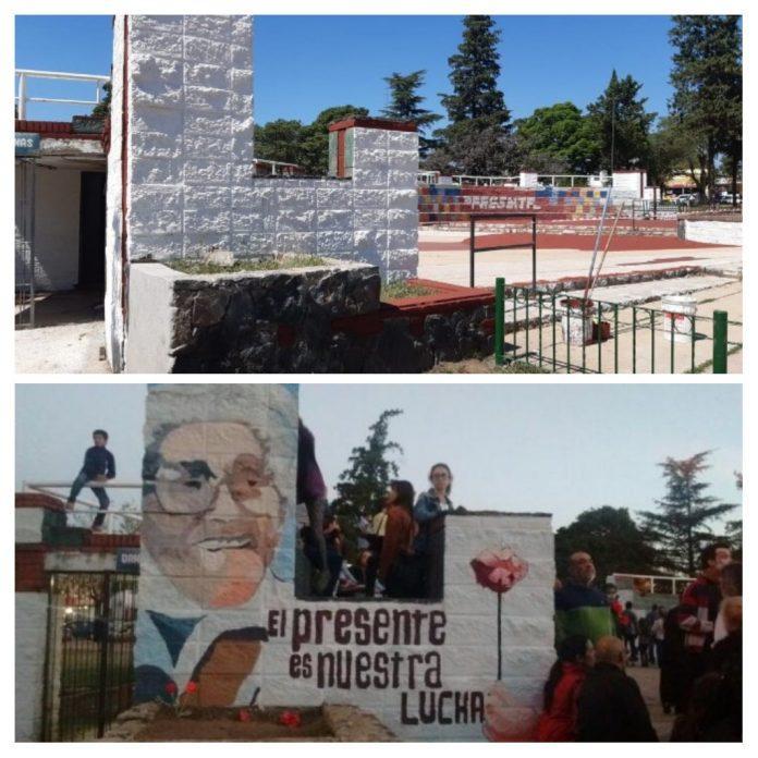 collage murales tapados - El Colectivo Paravachasca por la Memoria repudia la pintada de los murales en Plaza Mitre