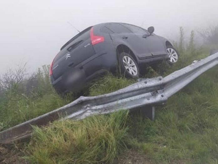 accidente camino al observatorio - Accidente con suerte en Falda del Carmen