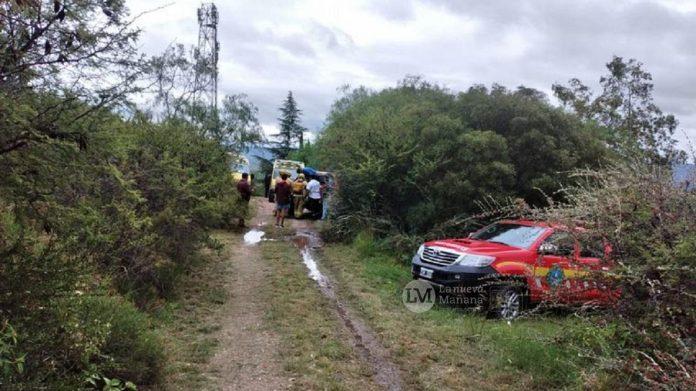 accidente en los cocos - Dos turistas cayeron desde uno de los tramos del aerosilla de Los Cocos