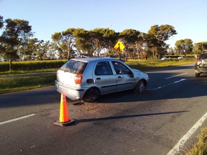 accidente ruta 5 - Accidente en Ruta 5: la conductora del rodado resultó con una fractura