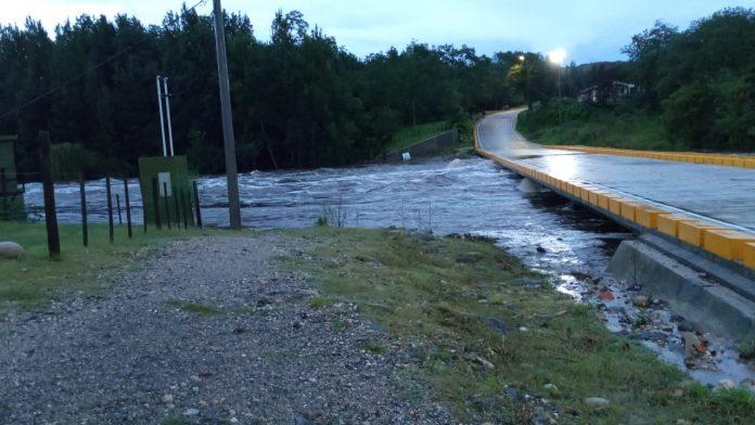 creciente rio san jose san clemente DC - 4 metros de creciente en el Río San José y Anisacate
