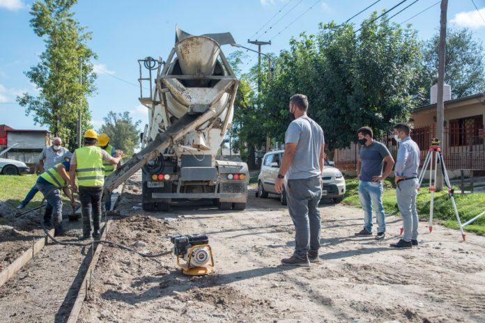 cuneta parque san juan - El municipio continúa con las obras de cordón cuneta