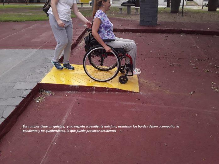 odis rampas plaza mitre leticia - O Dis reclama mejorar la accesibilidad en Plaza Mitre