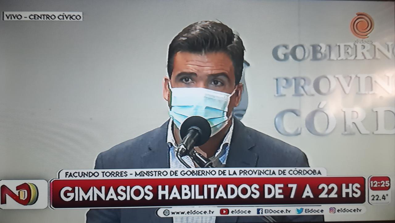 facundo torres anuncio restricciones - Restricciones en Córdoba: se disminuye la capacidad en salones de fiestas