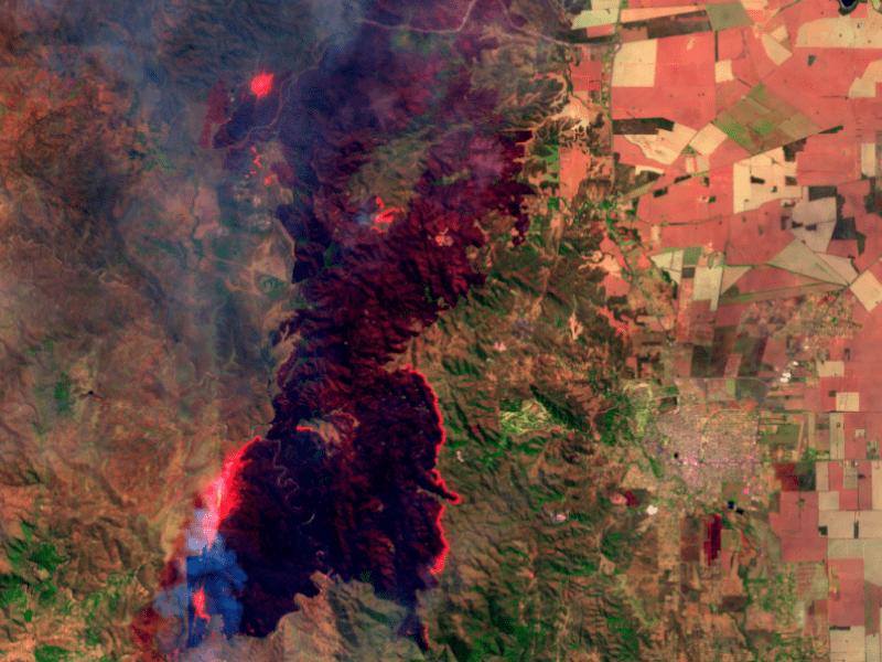 incendio alta gracia imagen satelital conae - La CONAE convoca a creativos para hacer una app para prevenir incendios forestales