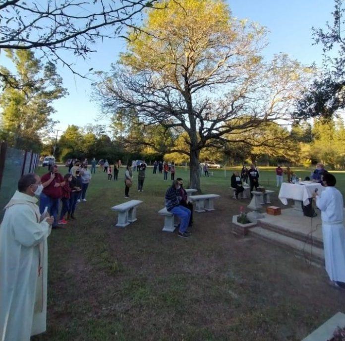 misa dique chico E - Se inauguró el oratorio en Dique Chico