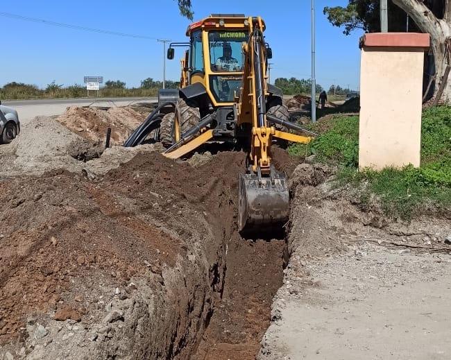 obras agua alta gracia - Continúan las obras de extensión de redes de agua y cloacas