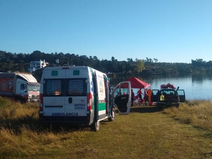 operativo los espinillos busqueda joven lago - Continúa la búsqueda del joven que cayó al Lago Los Molinos
