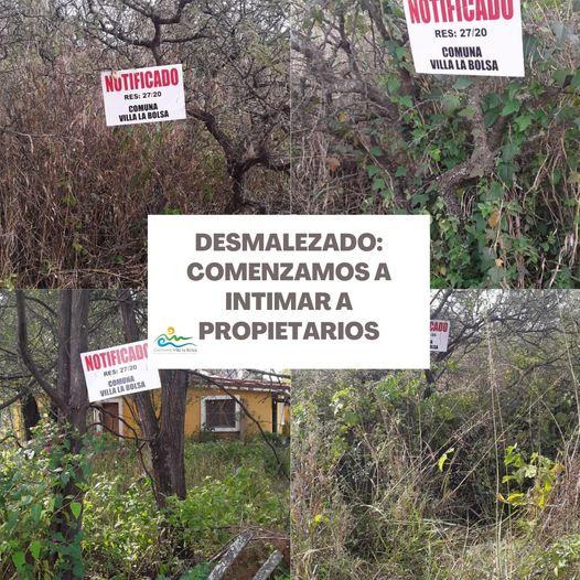 LA BOLSA - Villa La Bolsa: Continúa el plan integral de mantenimiento de espacios públicos y privados