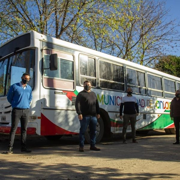 anisacate transporte - Anisacate: Comenzó a funcionar el transporte municipal gratuito para las escuelas
