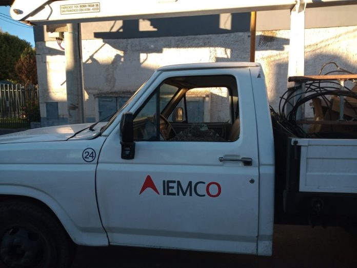 danos camion iemco - Un detenido por daños a vehículos de EPEC e IEMCO