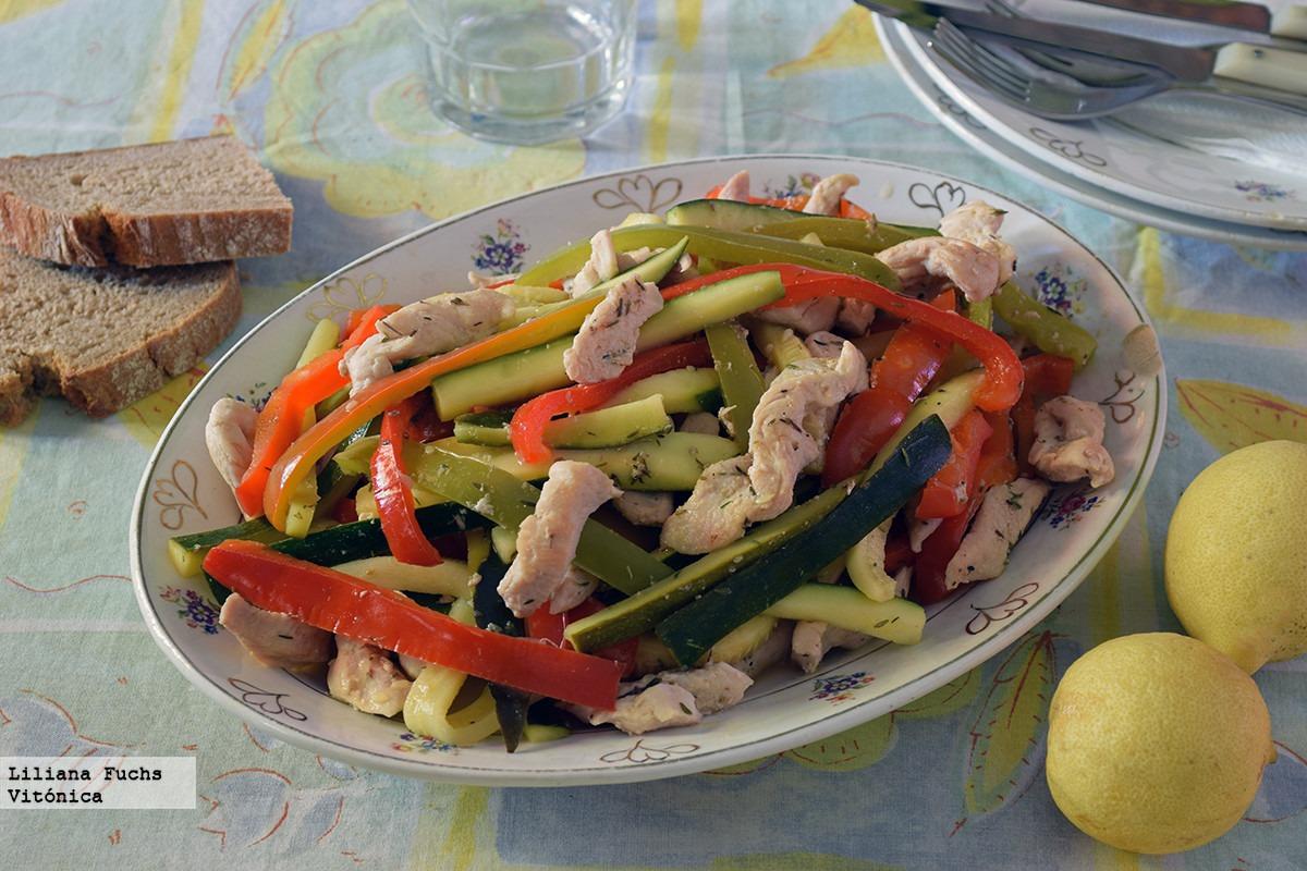pollo con verduras al limon - #LaRecetadelLunes: salteado de pollo con verduras al limón