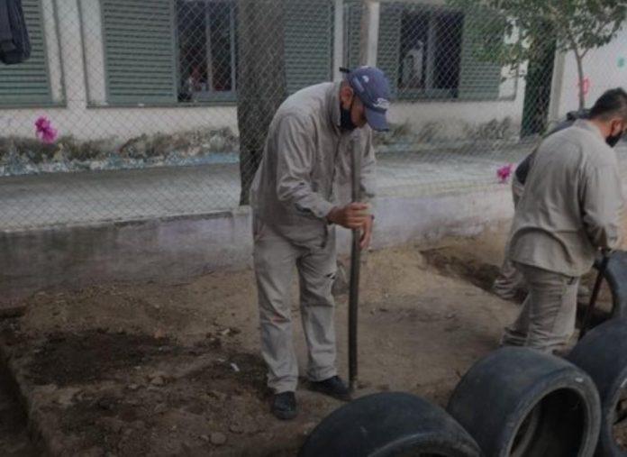 santa ana 2 - Santa Ana: Continúan con el mantenimiento de las escuelas