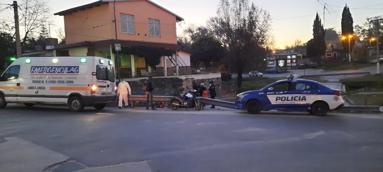 WhatsApp Image 2021 06 08 at 19.54.00 - Chocó contra un guarda raid en El Cañito