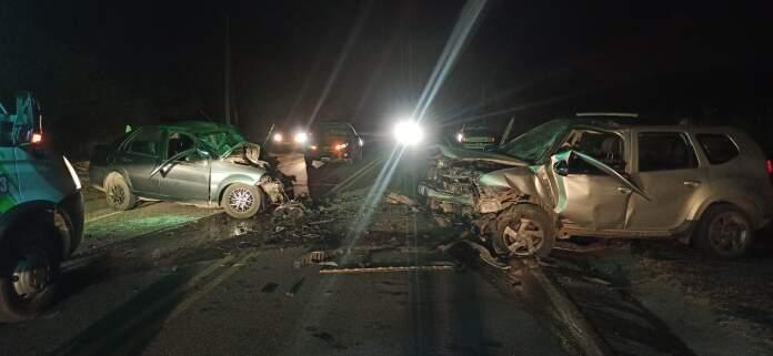 ACCIDENTE EN LOS AROMOS - Colisión frontal camino a La Bolsa: 3 personas heridas