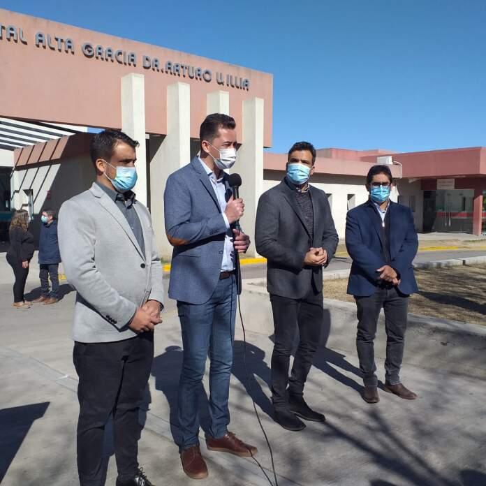 """hospital torres calvo cardozo alta gracia - Manuel Calvo: """"Hemos triplicado el área de atención crítica del Hospital"""""""