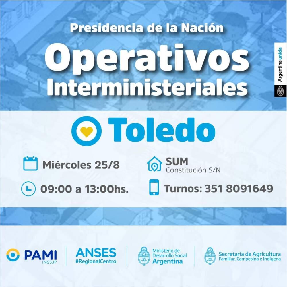 """TOLEDO - El """"Operativo Interministerial"""" desembarcará en Toledo"""