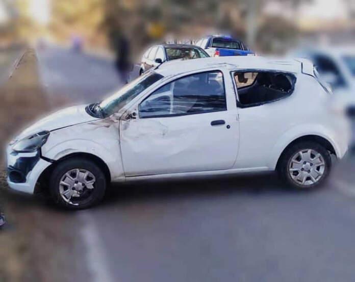 accidente malaguneo - Malagueño: despistó e impactó contra el guardarrail