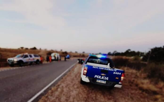 accidente potrero - Perdió el control de su moto y sufrió heridas múltiples