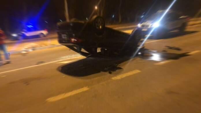 accidente ruta 5 - Tras un fuerte accidente en la Ruta 5, tres personas con politraumatismos