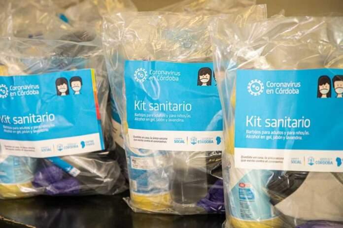 kit sanitario - Entregan kit sanitarios en Alta Gracia