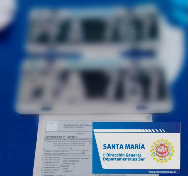 patentes secuestradas mami - Portaba boletas falsas y la patente del camión modificada