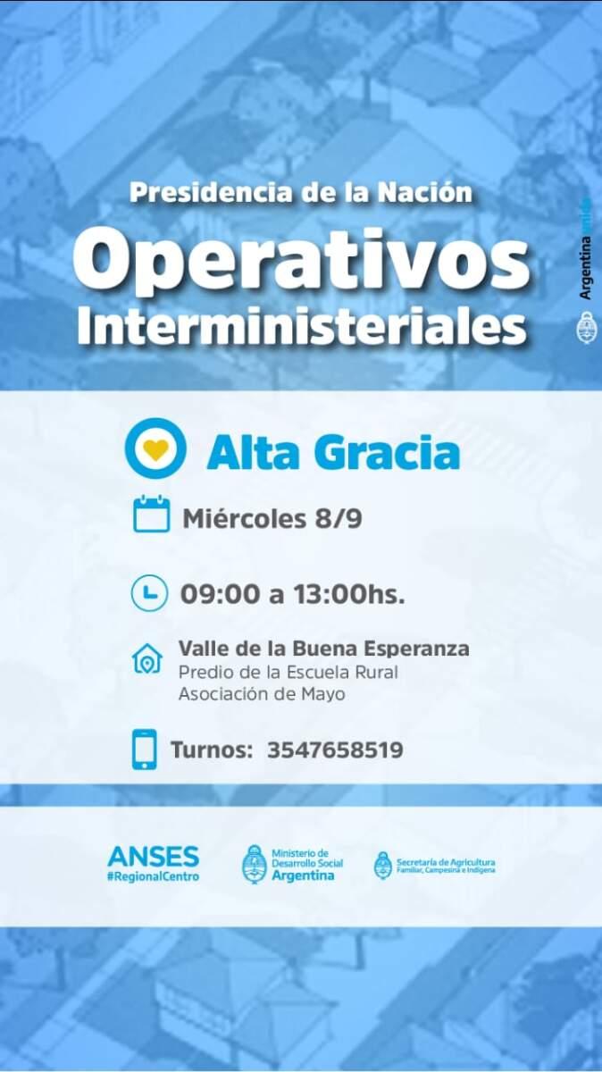 OPERATIVO INTERMINISTERIAL ALTA GRACIA VALLE BUENA ESPERANZA - Se realizarán operativos interministeriales en Valle de Buena Esperanza