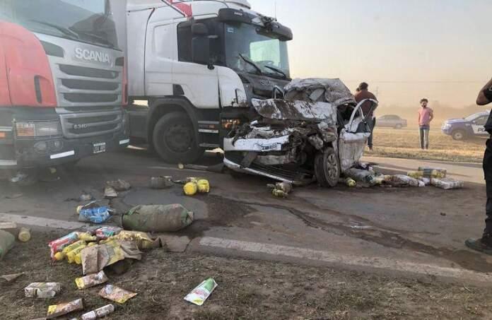 accidente ruta 19 - Choque múltiple en Ruta Nacional 19: hay al menos cinco heridos