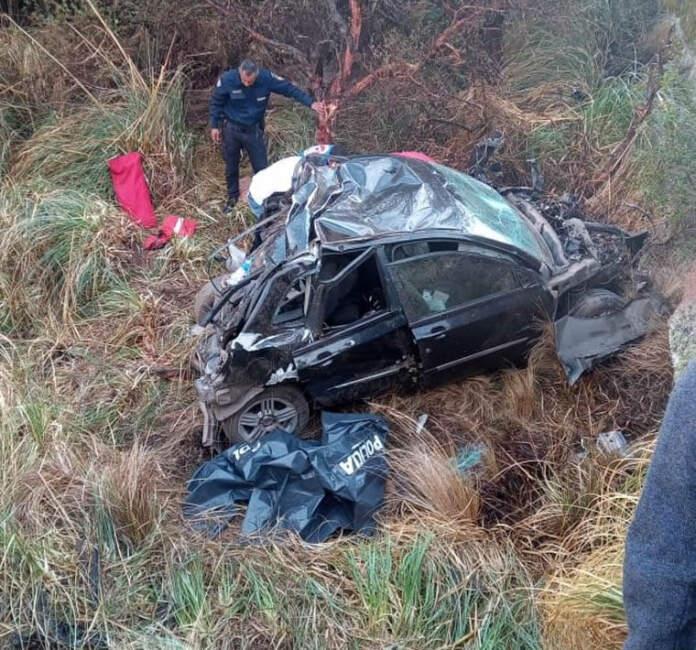 altas cumbres - Desbarrancó un auto en las Altas Cumbres: dos muertos
