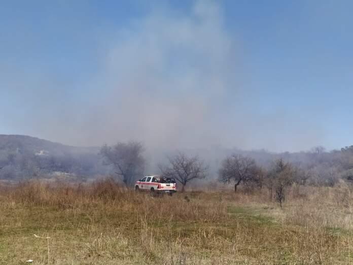 incendio canteras del cerro - Jornada de incendios en el Valle de Paravachasca